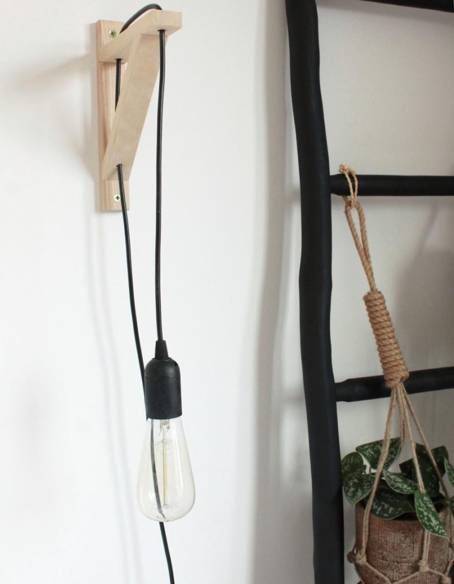 DIY industrieel nachtlampje