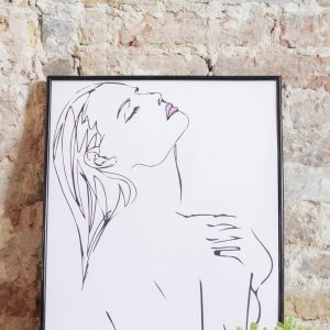 Line Art Woman 30 x 40 cm